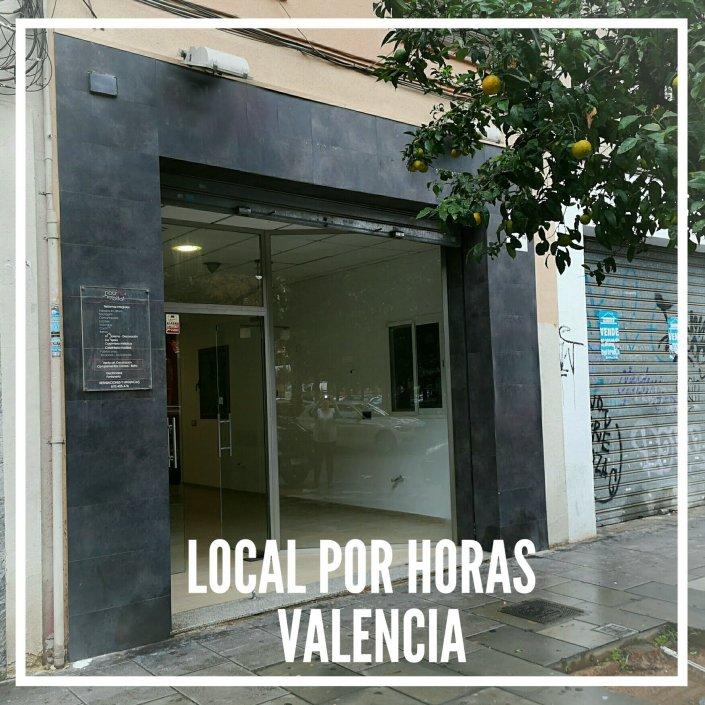 Entrada alquiler local por horas y dias en Valencia