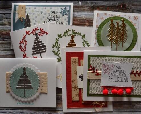 Tarjetas de felicitacion navideña personalizadas para celebraciones en local por horas valencia
